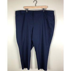 NWT Roz & Ali Navy Cropped Dress Pants Size 24